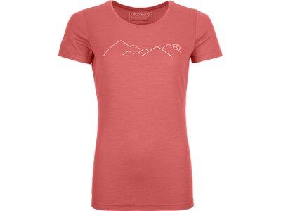 ORTOVOX Damen Unterhemd 185 MERINO MOUNTAIN Pink