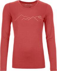 ORTOVOX Damen Unterhemd 185 MERINO MOUNTAIN LS