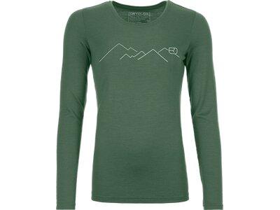 ORTOVOX Damen Unterhemd 185 MERINO MOUNTAIN LS Grau