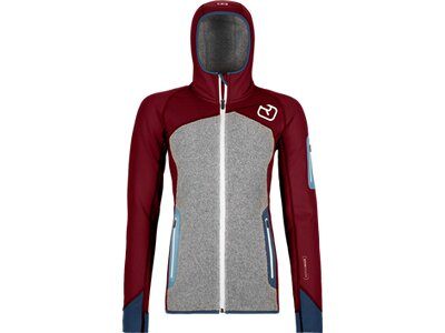 ORTOVOX Damen FLEECE PLUS HOODY Grau