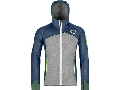 ORTOVOX Herren FLEECE PLUS HOODY Grau