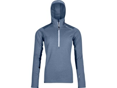 ORTOVOX Damen Hoodie FLEECE LIGHT GRID ZIP NECK HOODY W Grau