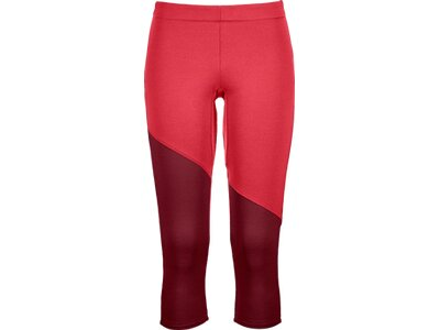 "ORTOVOX Damen Bergtights 3/4-lang ""Fleece Light Short Pant"" Rot"