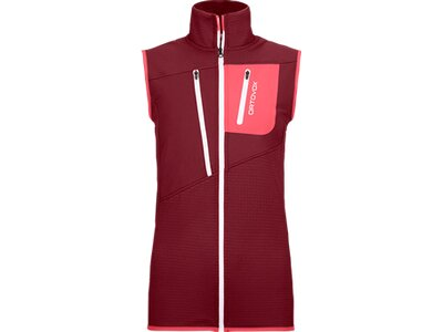 ORTOVOX FLEECE GRID VEST W Rot