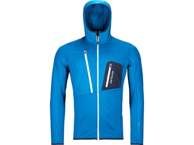 ORTOVOX FLEECE GRID HOODY M Blau