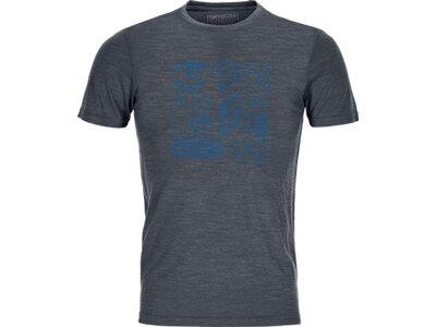 ORTOVOX Herren T-Shirt 120 COOL TEC PUZZLE T-SHIRT M Grau