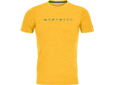 ORTOVOX Herren T-Shirt 120 COOL TEC ICONS T-SHIRT M Gelb