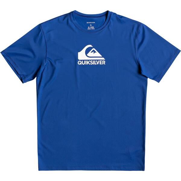 QUIKSILVER Herren Kurzärmliges Surf-T-Shirt mit UPF 50 Solid Streak