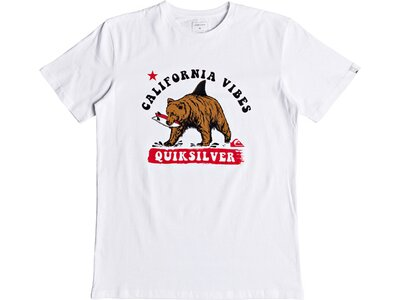 QUICKSILVER Herren T-Shirt Bear Shark Weiß