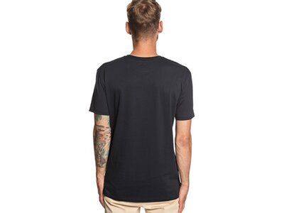 QUIKSILVER Herren Taschen-T-Shirt Tea Stripe Schwarz