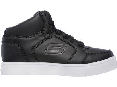 SKECHERS Kinder Sneaker Mid Top Lace Up Hidden Lights Schwarz
