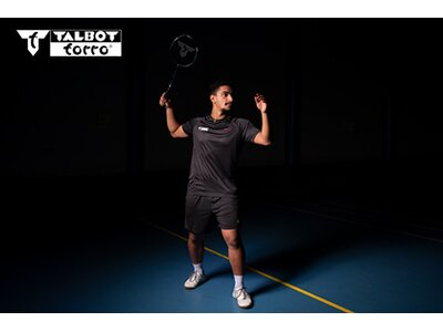 Talbot-Torro Badmintonschläger Isoforce 5051.8 Tato Dura Grau