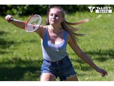 TALBOT/TORRO Badmintonset 4-FIGHTER im Thermobag Pink