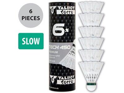 Talbot-Torro Badmintonball Tech 450, Premium Nylonfederball, 6er Dose Pink