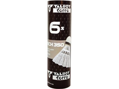 Talbot-Torro Badmintonball Tech 350, Nylonfederball, 6er Dose Pink