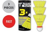 Vorschau: Talbot-Torro Badmintonball Tech 350, Nylonfederball, 3er Dose