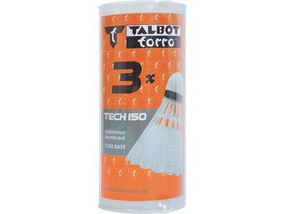 Talbot-Torro Badmintonball Tech 150, Kunststofffederball, 3er Dose Silber