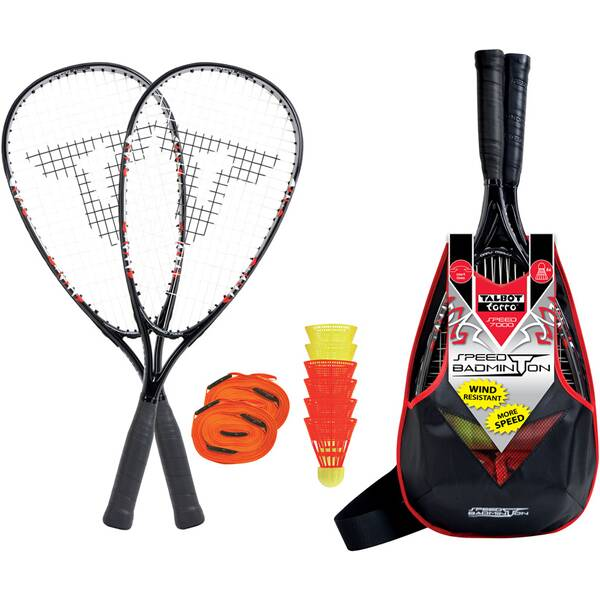 TALBOT/TORRO Speedbadminton Set SPEED 7000 im Slingbag
