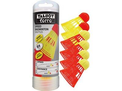 TALBOT/TORRO Speedbadminton-Bälle 6er-Dose Aerospeed Rot