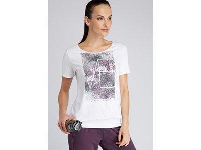 VENICE BEACH Damen T-Shirt mit Bündchen Rita 04 Weiß