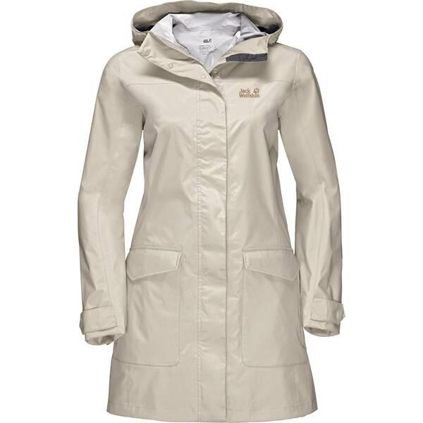 JACK WOLFSKIN Damen Funktionsjacke Crosstown Raincoat Rosa