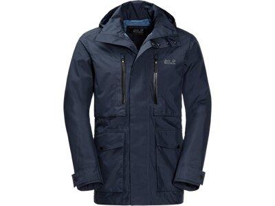 JACK WOLFSKIN Herren Wetterschutzjacke Bridgeport Jacket Blau