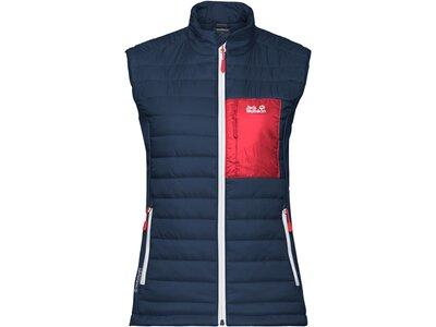 "JACKWOLFSKIN Damen Outdoor-Weste ""Routeburn Vest W"" Blau"
