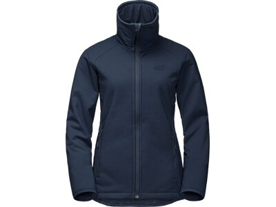 JACK WOLFSKIN Damen Funktionsjacke Rock Valley Blau
