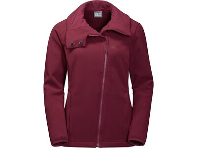 JACK WOLFSKIN Damen Softshelljacke ESSENTIAL VALLEY WOMEN Rot