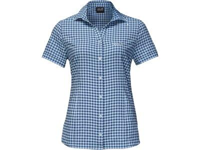 "JACKWOLFSKIN Damen Wanderbluse ""Kepler Shirt"" Kurzarm Blau"
