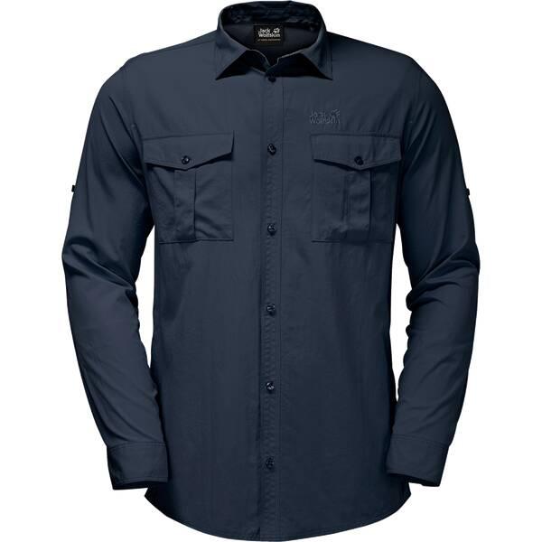 JACK WOLFSKIN Herren Hemd Atacama Roll-up Shirt Schwarz