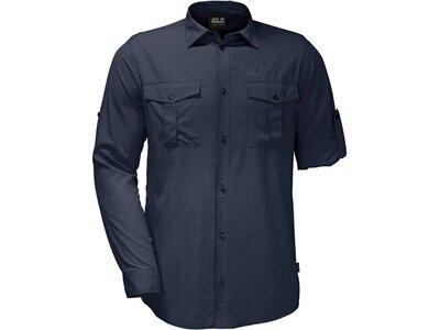 JACK WOLFSKIN Herren Hemd Atacama Roll-up Shirt Blau