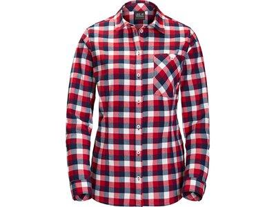 JACK WOLFSKIN Damen Hemd Bow River Shirt Lila