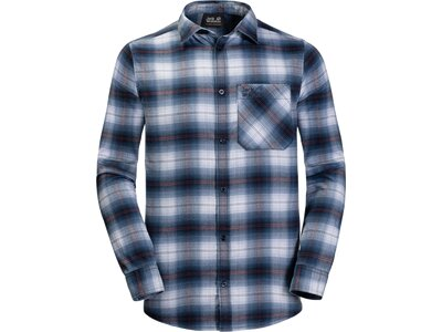 JACK WOLFSKIN Herren Freizeithemd LIGHT VALLEY SHIRT Blau