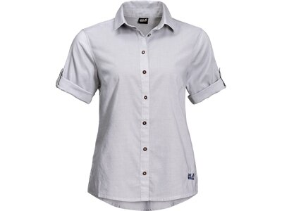 JACK WOLFSKIN Damen Hemd INDIAN SPRINGS SHORTSLEEVE Silber