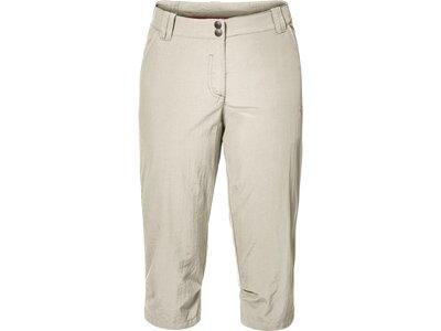 JACK WOLFSKIN Damen Caprihose Kalahari 3/4 Pants Silber
