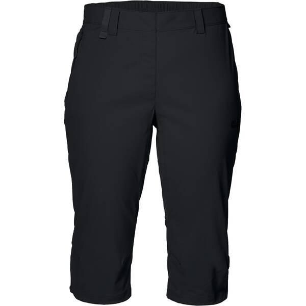 JACK WOLFSKIN Damen Shorts Activate Light 3/4 Pants Schwarz