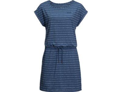 JACK WOLFSKIN Damen Sommerkleid TRAVEL STRIPED DRESS Blau