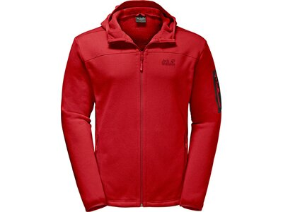 JACK WOLFSKIN Herren Unterjacke Castle Rock Hooded Jacket Rot