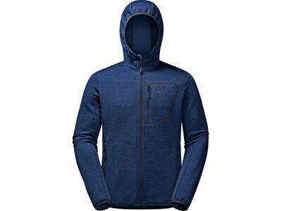 JACK WOLFSKIN Herren Unterjacke Skyland Hooded Jacket Blau