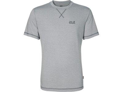 """JACKWOLFSKIN Herren Funktionsshirt / T-Shirt """"Crosstrail T Men"""" Silber"""