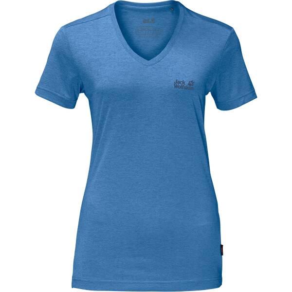 JACK WOLFSKIN Damen Funktionsshirt Crosstrail T Women Blau