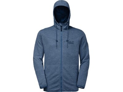 JACK WOLFSKIN Herren Fleecejacke Tongari Hooded Jacket Blau