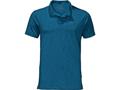 JACK WOLFSKIN Herren Poloshirt Travel Polo Men Blau
