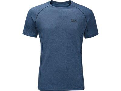 JACK WOLFSKIN Herren Shirt Hydropore Athletic T Blau