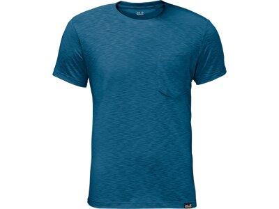 JACK WOLFSKIN Herren T-shirt Travel T Men Blau