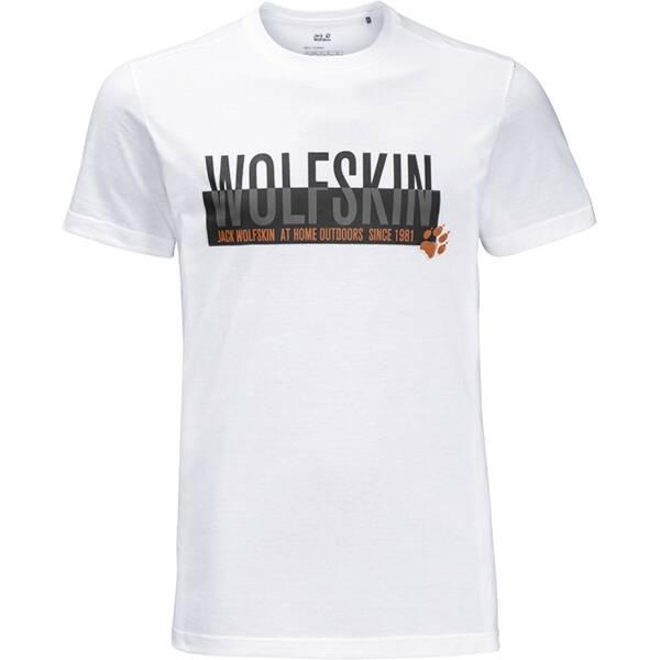 JACK WOLFSKIN Herren T-Shirt SLOGAN T MEN Grau