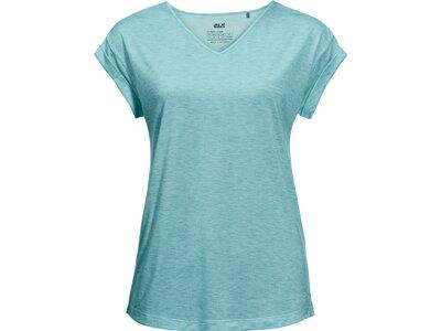 JACK WOLFSKIN Damen T-Shirt CORAL COAST T W Blau