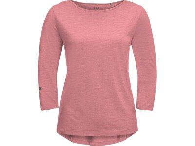 JACK WOLFSKIN Damen Shirt CORAL COAST 3/4 Pink