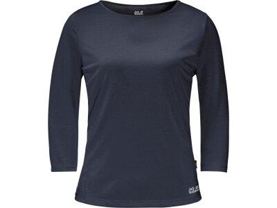 JACK WOLFSKIN Damen Shirt JWP 3/4 Blau